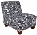 Zebra Armless Chair: