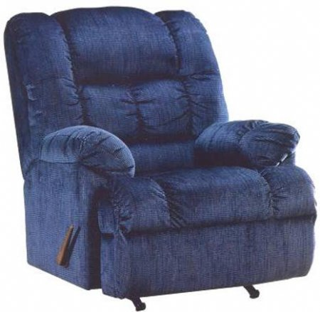 Details about big man s recliner rocke r w navy blue only