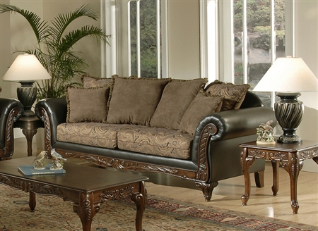 serta formal antique style luxury sofa love seat living