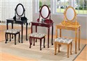 Queen Anne Style Vanity Set Cherry Finish
