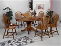 Farmhouse Oval Dark Oak Dining -5pc.