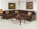 Olympian Chocolate ~ Stationary Sectional