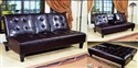 Bennett Adjustable Espresso Sofa w/Cup Holders