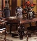"Double Pedestal Dining Table With 2 15"" Leaves"