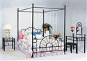 Metal Canopy Bedroom Collection: Full Size