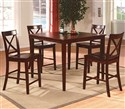5 Piece Counter Height Table Set with 4 Crossback
