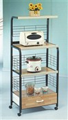 Kitchen Rack Microwave Cart Stand ~ Black