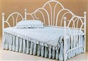 White Peacock with Porcelain Finials Daybed