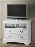 Plasma Media Chest with 4 Drawers ~ White