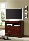 BR5933TV Cherry TV Chest with 4 Drawers ~ Cherry