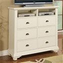 Elements Brook Media Chest - White BP700TVB