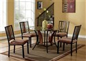 DINDC087 5 Piece Glass Top Dining Room Set