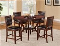 Brownstown 5-Piece Oval Counter Height Table Set