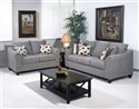 Sofa and Love in Flyer Metal Fabric Set
