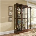 Medallion Cherry Curio Cabinet