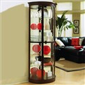 Chocolate Cherry II 32 Inch Wide Half Round Curio