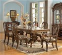 7pc Eleanore Elegant Traditional Brown Cherry Set