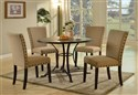 DIN9701 5pc Dining Room Set with 4 Side Chairs