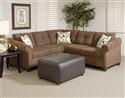 2078 2-Piece Sectional Sofa in Mocha Brown