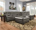 Apollo Charcoal Bonded Leather 5122 Chaise Section