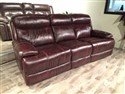 Oxblood Top Grain Leather Motion Sofa and Loveseat