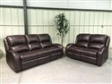 9595 Round Arm Motion Sofa and Love in Oxblood