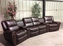 Cheers Nailhead Theater Reclining Sectional