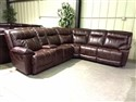 Brown Leather Sectional with USB Ports