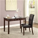 2pc Sydney Marble Top Home Office Desk