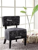Dark Accent Chair with White Writing