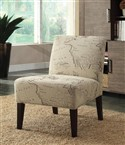 Beige Mapped Accent Chair