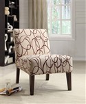 Beige Loop Accent Chair
