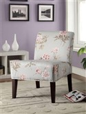 Blue with Floral Accent Chair