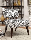White Floral Accent Chair