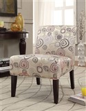 Abstract Circles Accent Chair