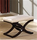 Dark Cherry with Pearl Seat Bench