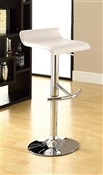 "27.5-30""H White Adjustable Bar Stool (2/"