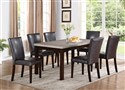 5pc. Espresso with Gray Top Dinette Set