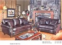 9000 Sofa and Loveseat - Nailhead Trim